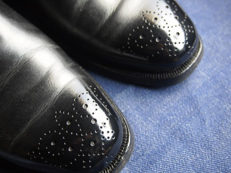 靴磨き 鏡面磨き ハイシャイン ミラーポリッシュ