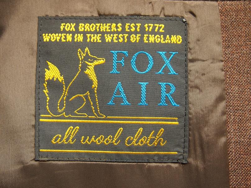 オーダースーツ FOX BROTHERS FOX AIR
