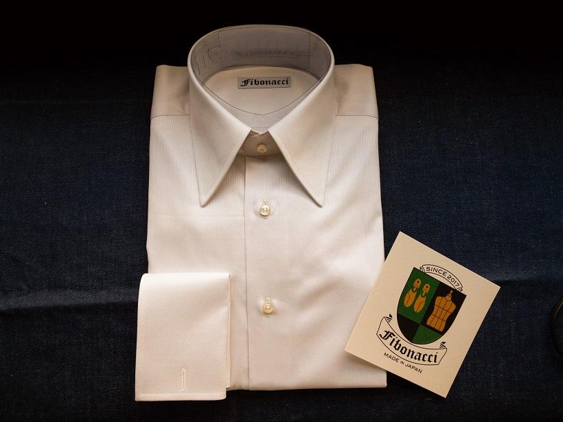 オーダーシャツ ロングポイントカラー ダブルカフス Profilo プロフィロ