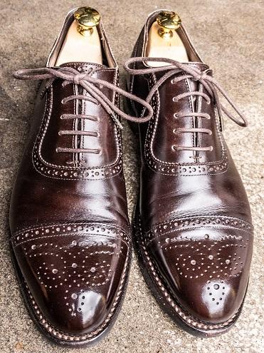 革靴 鏡面磨き ハイシャイン