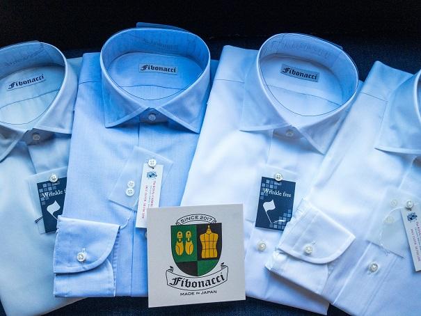 オーダーシャツ ショートワイドカラー 形態安定素材
