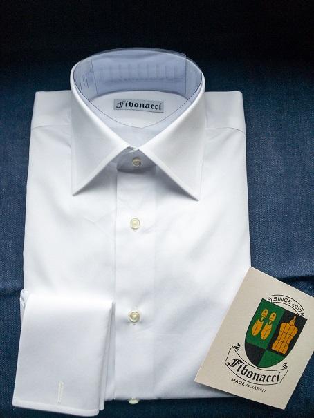 オーダーシャツ セミワイドカラー ダブルカフス ブロード