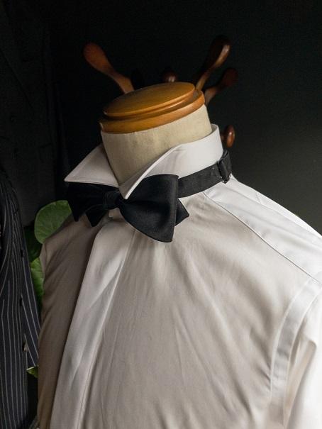デタッチャブルカラー オーダーシャツ ウィングカラー ボウタイ 蝶ネクタイ 比翼