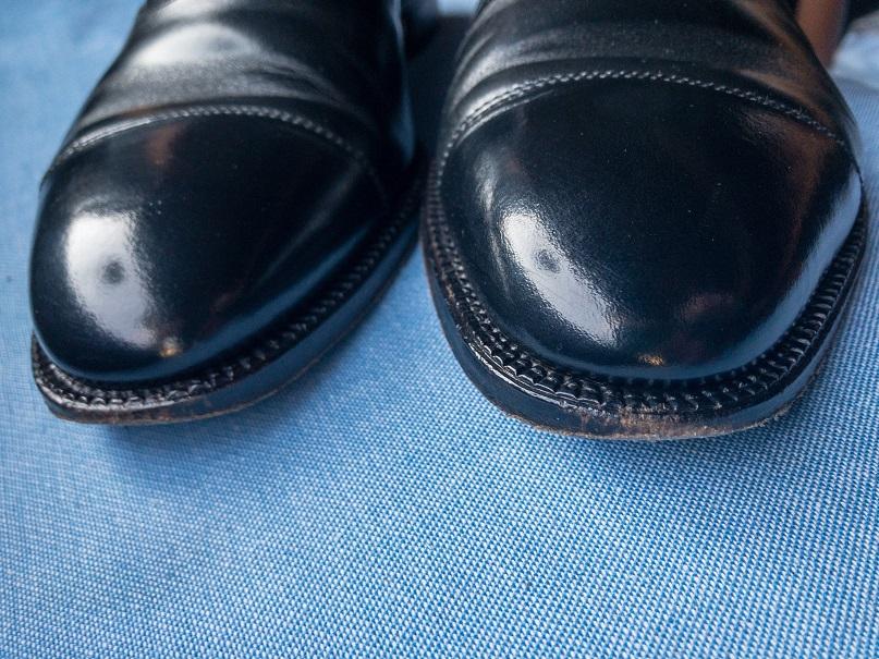 革靴 コバ 補修