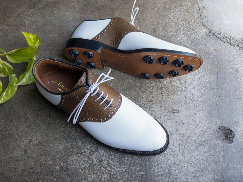 saddle golf shoes made to measure