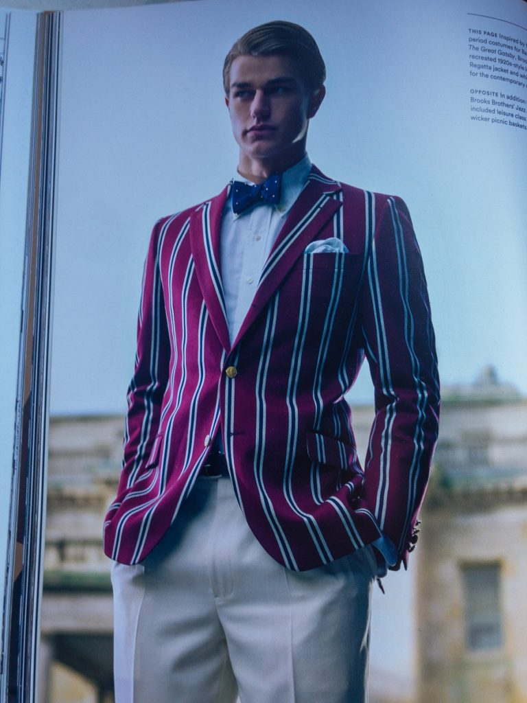 Brooks Brothers regatta jacket inspired by The Great Gatsby