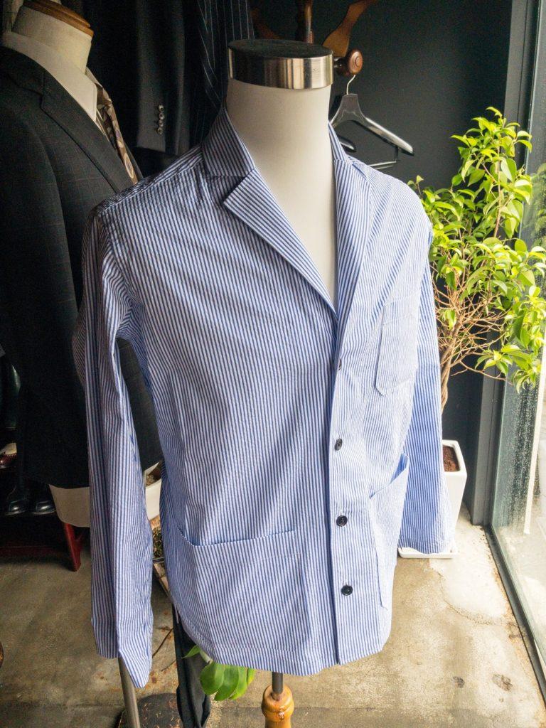 オーダーシャツ オーバーシャツ シアサッカー シャツジャケット