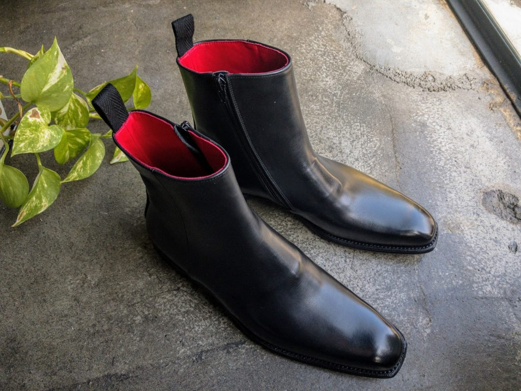 オーダーシューズ オーダーブーツ 宮城興業 side zip boots